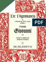 De Nigromancia - Grimorio Giovanni