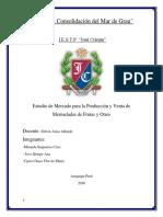 Estudio de Mercado para la Producción y Venta de Mermeladas de Frutas y Otros