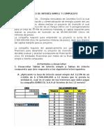 Calculo de Interés Simple y Compuesto Ev Final