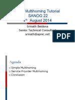 Tutorial BGP Multihoming Techniques SANOG24