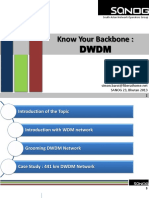SANOG23 Know Your Backbone DWDM