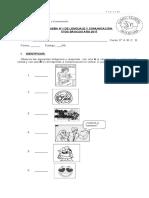 PRUEBA DE COMUNICACIÓN 1 5° BÁSICO FORMA 1
