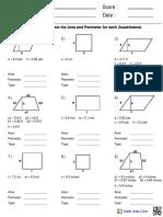 Perimeter Quadrilaterals