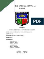 Informe Isotermas de Sorción y Aw 2017