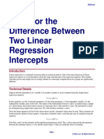 Tests for the Difference Between Two Linear Regression Intercepts