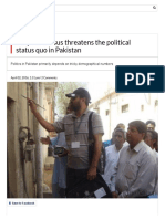 Why the Census Threatens the Political Status Quo in Pakistan