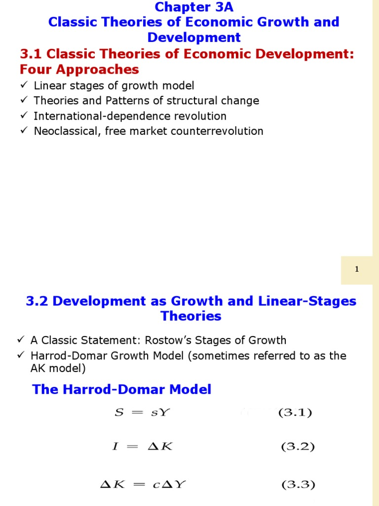 rostows stages of growth model