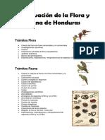 Conservación de La Flora y Fauna de Honduras