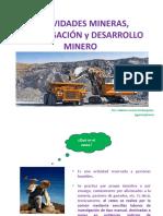 Actividad Minera y Concesión Minera