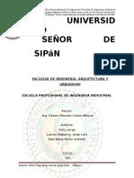 PROCESO ¨CHIFLE VIVAR¨  UNIVERSIDAD (SIPAN) ING. INDUSTRIAL