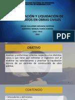 VALORIZACIÓN Y LIQUIDACIÓN DE CONTRATOS EN OBRAS CIVILES 2