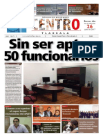 Sin ser aptos 50 funcionarios #CentroTlaxcala