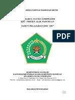 Rencana Kerja Tahunan Madrasah 2016 2017