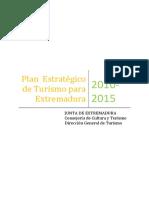 Plan Estrategico de Turismo Para Extremadura 2010 2015