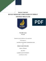 Nishat Final Hrm Project v.1