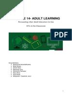 module 14 adultlearning