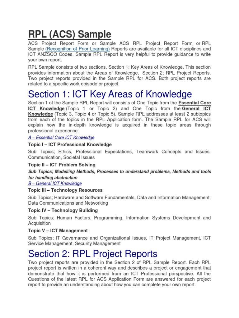 Rpl acs sample reviewmycdr educational technology programmer aljukfo Image collections