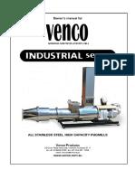 VENCO Industrial Series Pugmill Manual Download v1