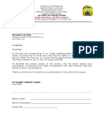 Letter Invitation Mall Security Officers Table Top