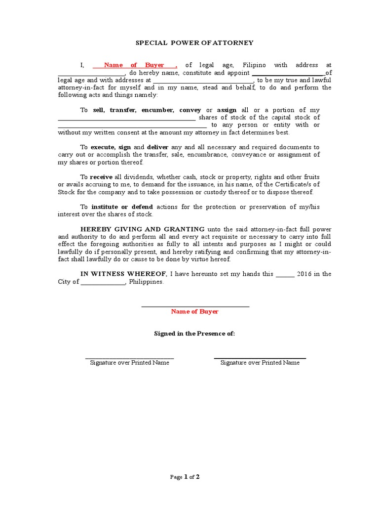 Sample spac power of attorney civil law common law falaconquin