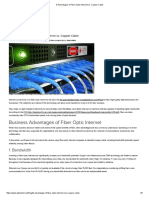 8 Advantages of Fiber-Optic Internet Vs