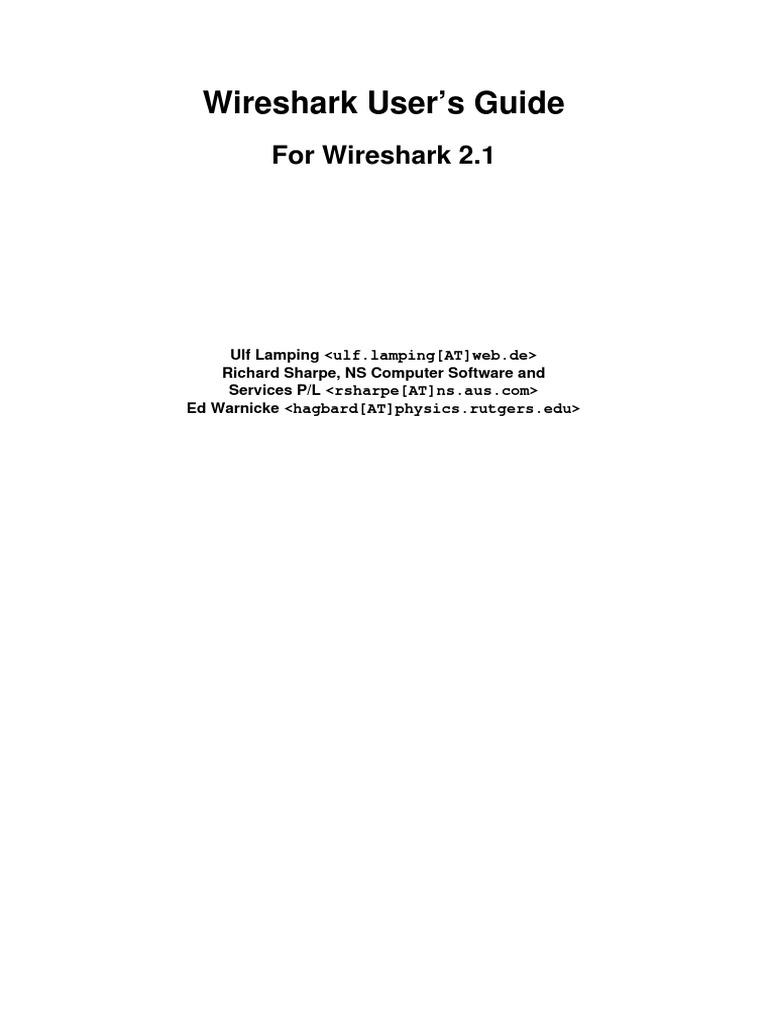 Wireshark User Guide a4 | Linux | Unix