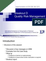 06 Breakout D-Quality Risk Management-Key Messages