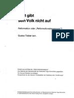 Gott gibt sein Volk nicht auf - Reformation oder Reformaionsbewegung (der Siebenten-Tags-Adventisten) - Gustav Tobler