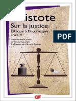 Sur La Justice Ethique a Nicomaque Livre V