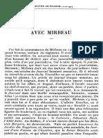 Eugène Montfort, « Avec Mirbeau »