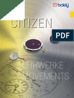 Citizen Uhrwerke Movements