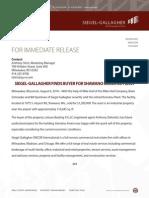 For Immediate Release Shawano Komatsu Plant