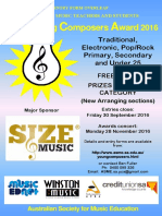 ASME Young Composers Award Poster and Entry Form 2016