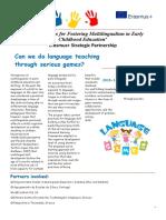 language games newsletter 1