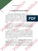 Recurso Reforma Podemos contra archivo subpieza secreta del caso Nicolay
