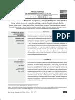 Las políticas sociales en la reducción de la pobreza y la mejora del bienestar social en Bolivia