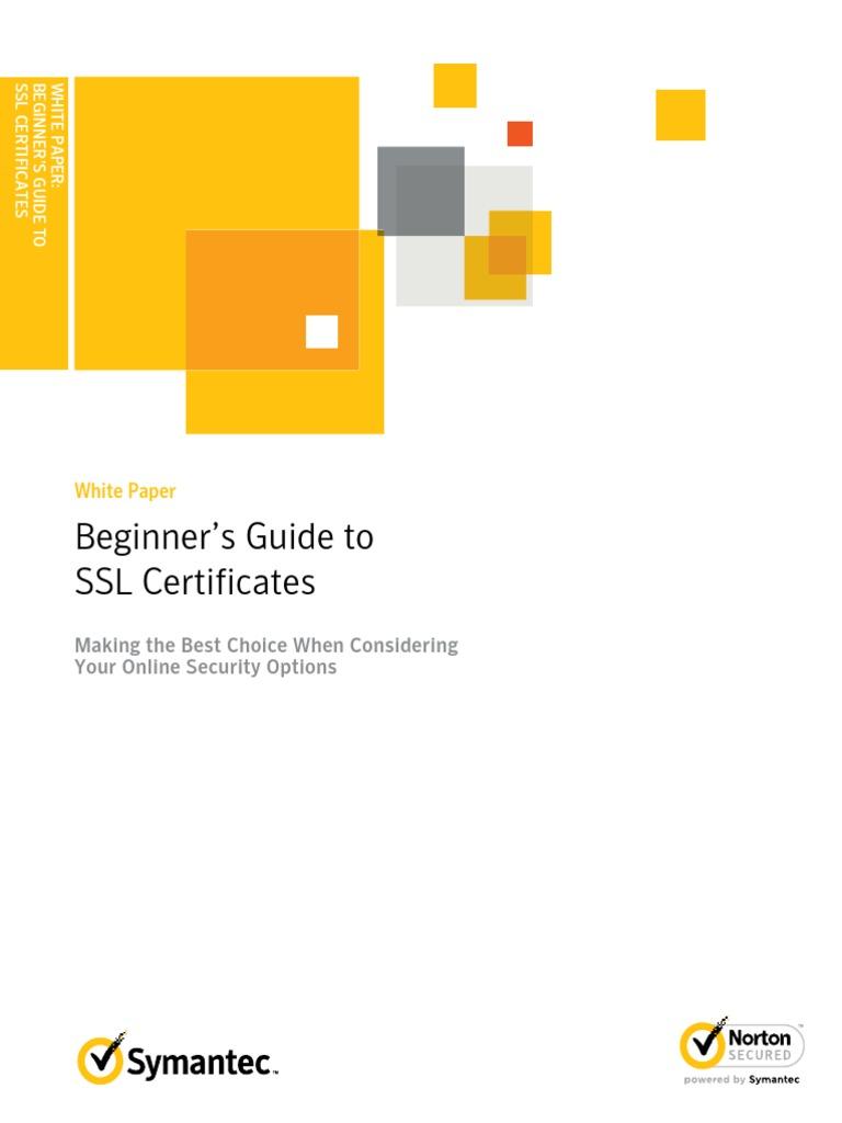 Beginner's Guide to SSL Certificates: White Paper