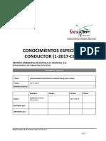 CONOCIMIENTOS ESPECÍFICOS CONDUCTOR (1-2017-COND)