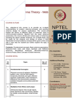 Syllabus Antenna Theory