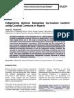 Indigenizing Science Education Curriculum Content using Concept Cartoons in Nigeria