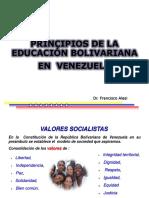 Principios de La Educación Bolivariana
