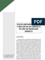 Hemoperitoneo secundario a rotura esponta¦ünea de un hepatocarcinoma de lo¦übulo hepa¦ütico izquierdo