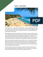 Things to do around Goa – Travel Guide