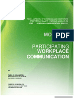 Module 1 Participate in Workplace Communication