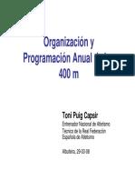 Organización y Programación Anual de Los 400 m.l