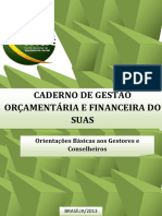 Cadeno de Gestao Orcamentaria e Financeira Do SUAS-Versao JUL2013