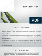 Concept of Psychoeducation