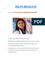 Dr. Shilpi Bhadani - Best Costemic & Plastic Surgeon in Gurgaon
