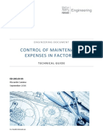 ED-205.3-3 - Control of Maintenance Expenses in Factories