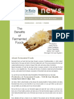 The benefits of fermented foods - Article March 2015